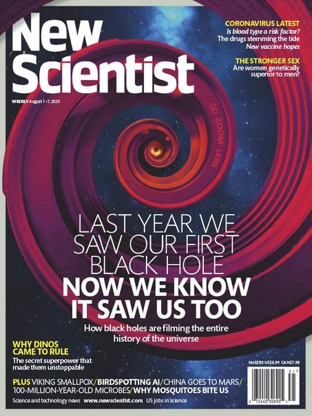 Book cover New Scientist 08.1.2020
