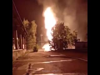 Пожар на станции в Казани