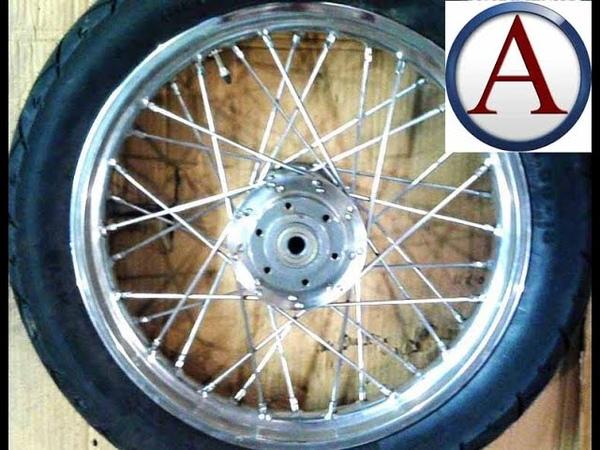 Как выпрямить колесо мотоцикла и натянуть спицы
