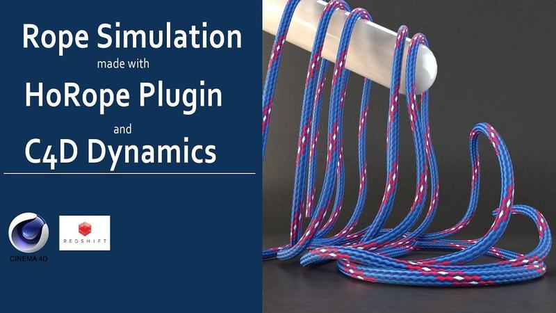 Dynamic Rope simulation tutorial made in Cinema 4d using HoRope plugin