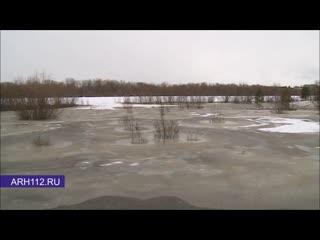 Подготовка к паводку в Холмогорах