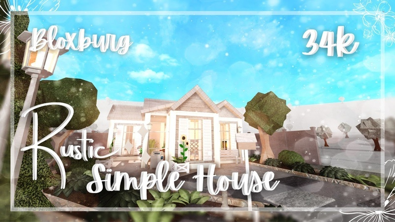 Roblox Bloxburg Rustic Simple House Speed build Tour - January 13, 2021, | Minami Oroi