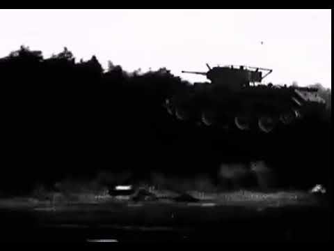 Невероятный прыжок капитана Кульчицкого на танке БТ 7 42 метра свободного полёта 1936 г