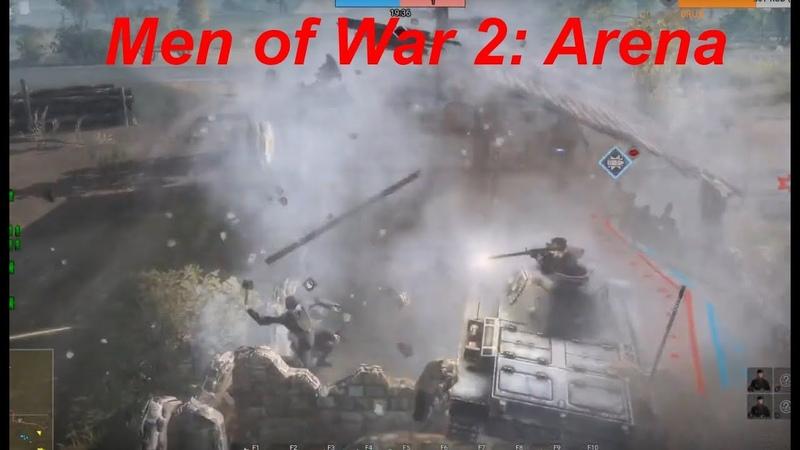 Тигр 1 против КВ 2 , и тащ на остатках начального полка\ Танковый полк Men of War 2: Arena