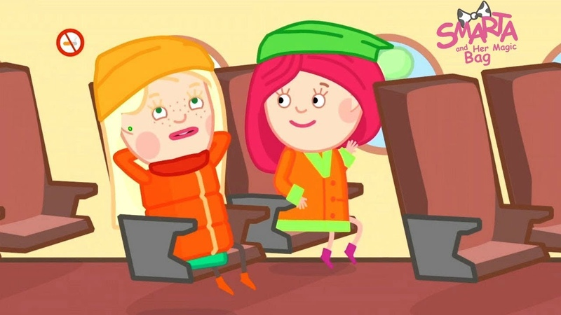 New Smarta Adventures on a Plane Funny Cartoons for Kids