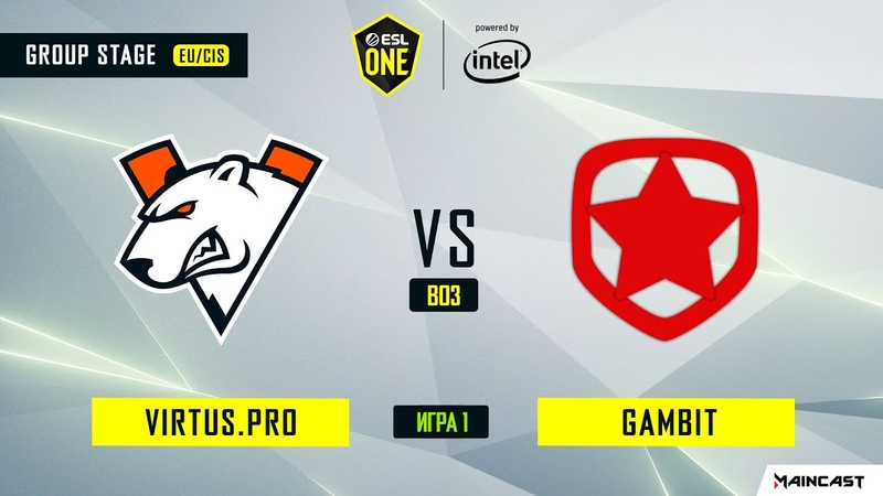 Virtus.pro vs Gambit Esports - Game 1, Group A - ESL One Los Angeles 2020 - Online Championship