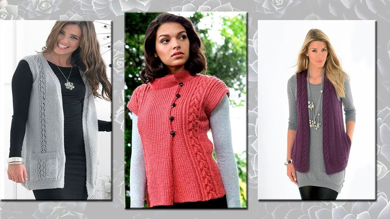 Patterns of knitting vests crochet * Toma Prus