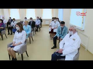 Глава Мордовии посетил поликлинику в микрорайоне Юбилейный в Саранске.