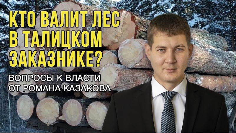 Роман Казаков Вопросы к власти куда уходит маслянинский лес
