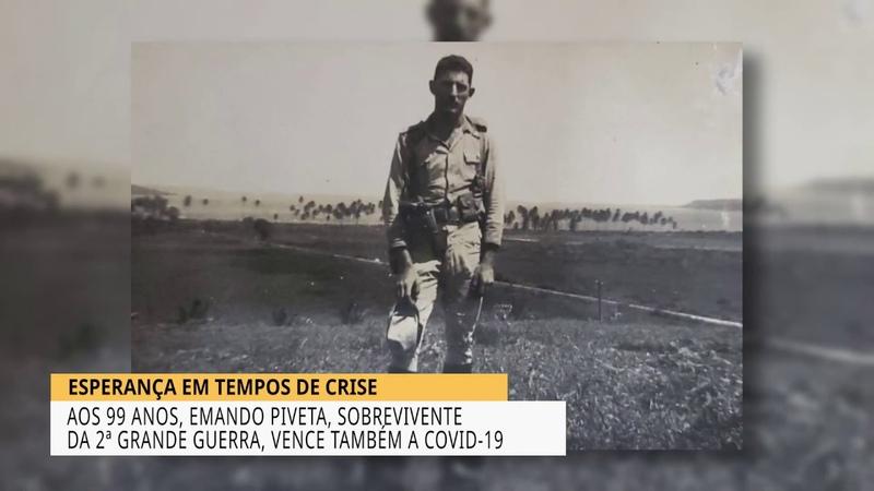 VETERANO DE GUERRA É CURADO DA COVID 19 AOS 99 ANOS