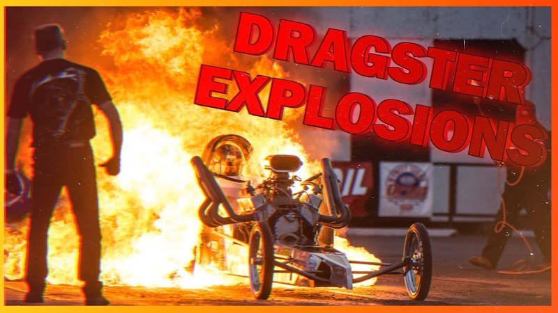 EXPLOSIONS AT DRAGSTER RACES