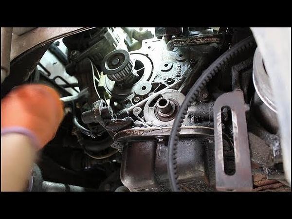 Замена помпы и ремня ГРМ на Chevrolet Lanos Шевроле Ланос 2006 года 1часть