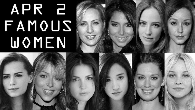 April 2 ♈ Famous Women BirthDays Celebrities