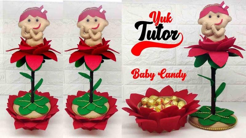 Ide Kreatif Tempat Permen Lucu Dari Kain Flanel Baby Candy Home Decoration Ideas