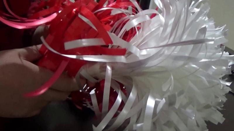 Pratik Rafyadan PONPON yapımı nasıl yapılır 23 NİSAN için @Şükrüyeden Sadece İğne Oyası