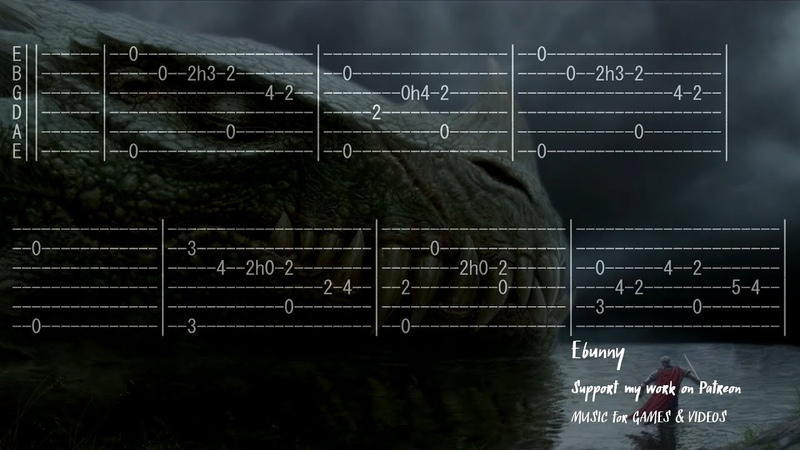 Tavern Medieval Ballad Legend Full Acoustic Guitar Tab by Ebunny Fingerstyle How to Play