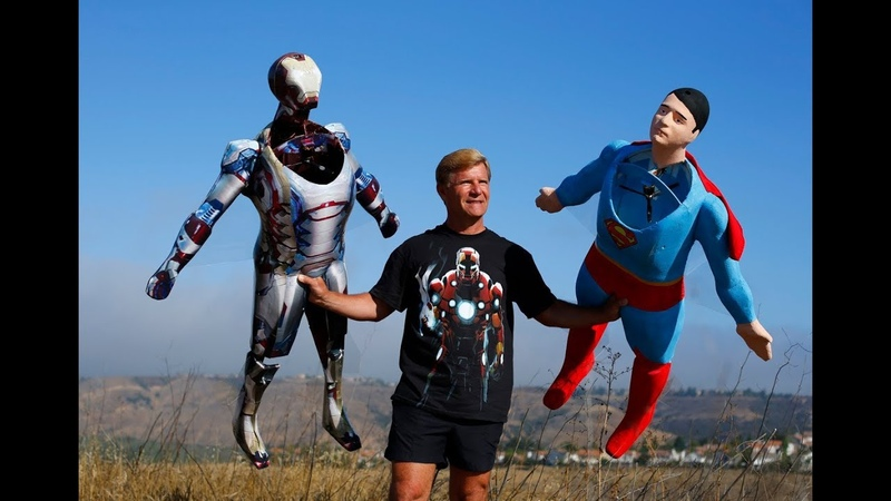 Ironman 3, Superman and Ms. Emerson at Sorrento Canyon by Otto Dieffenbach