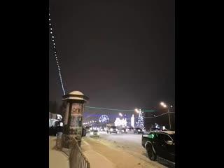 Салют на площади Ленина в Уфе