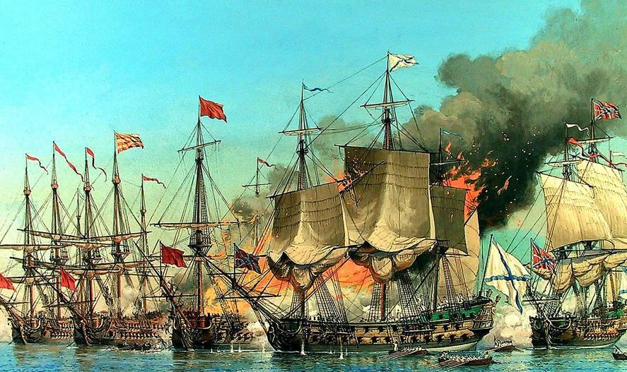 Величайшая победа русского флота- Чесменское сражение