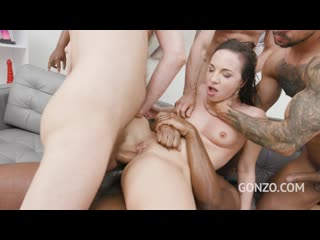 Kristy Black anal DAP 4on1 with Piss Drinking 0% pussy fucking SZ2453