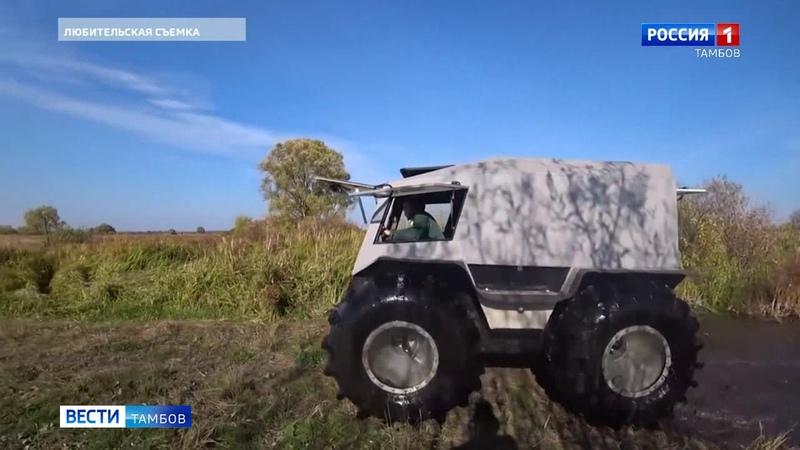 Житель Моршанского района своими руками собрал точную копию вездехода «Шерп»Вести Тамбов