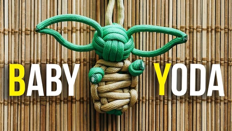 DIY BABY YODA Paracord Keychain Tutorial | The Mandalorian