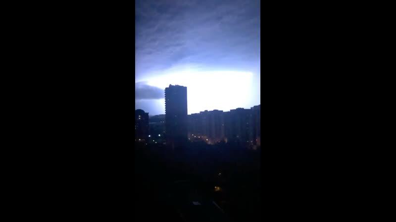Молния ударила 6 раз в одну многоэтажку в Одинцово