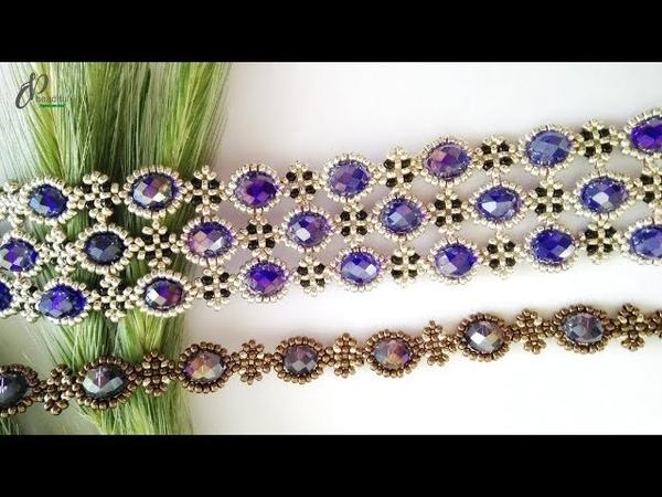 Passion Bracelet 💖 Beautiful Beaded Cuff Bracelet How to make beaded bracelet 👍