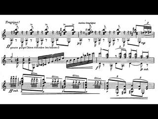 Roland Dyens - Tango en Skaï for Guitar (Score video)
