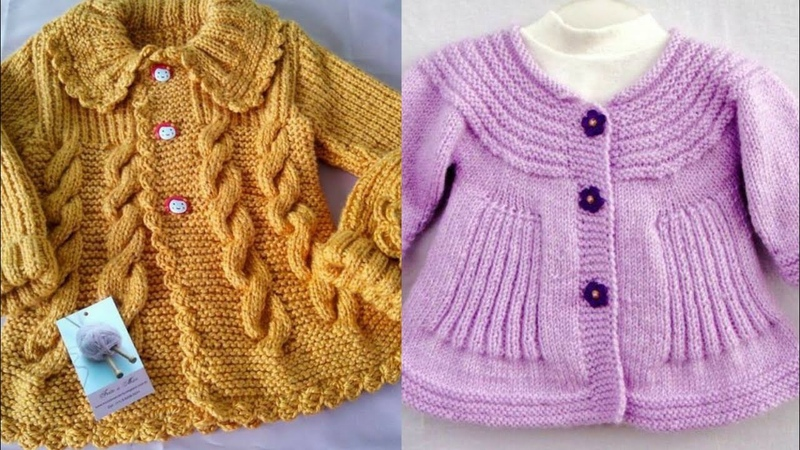Stunning And Beautiful Hand Kintting Baby Cardigans Designs