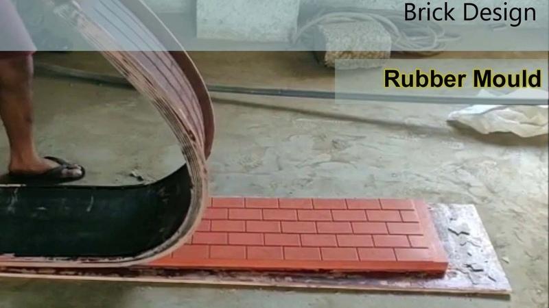 Precast Concrete Fence compound Wall Rubber Moulds Mold