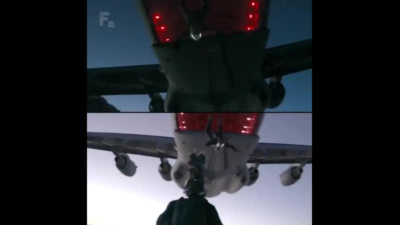 Затяжной прыжок Тома Круза из самолета