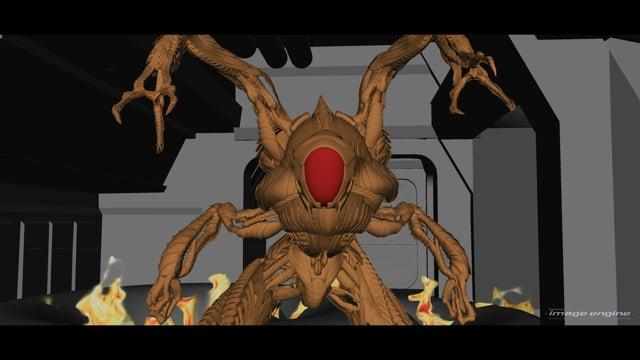 Lost in Space Season 2 Robot Battle Previz Image Engine VFX