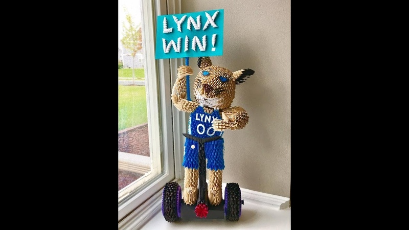 How Did Karen Make 3D Origami Prowl - Minnesota Lynx