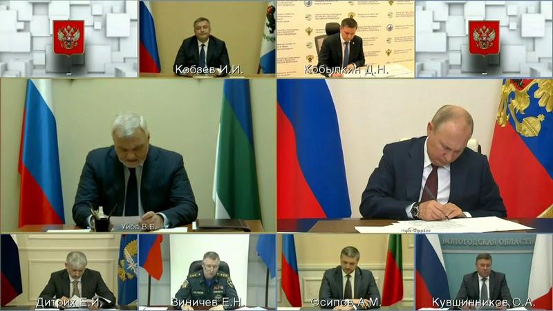 Владимир Уйба рассказал президенту России о ситуации с паводком и лесными пожарами в республике