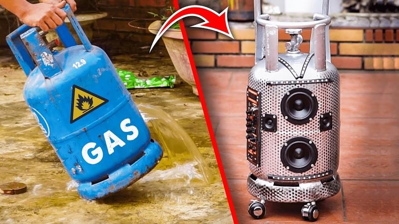 Recycle Gas Bottle into Trolley Bluetooth Speaker