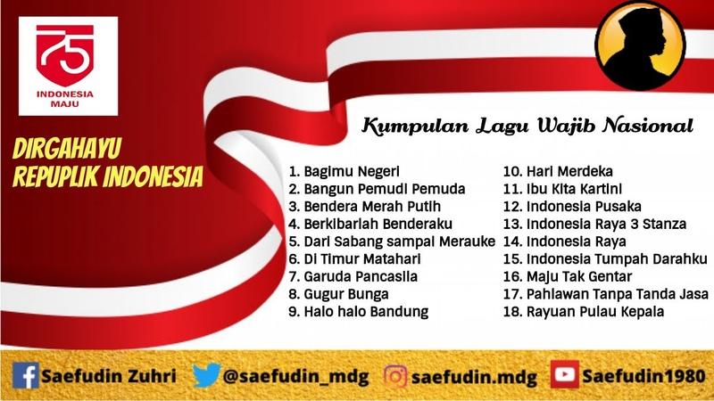 Kumpulan lagu Nasional Indonesia