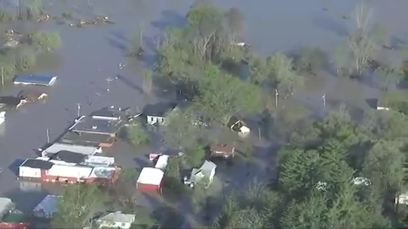 Масштабное наводнение из за прорыва дамб в штате Мичиган США 20 05 2020