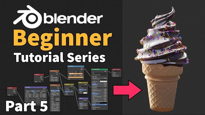 Blender 2.8 Beginner Tutorial - Part 5 Easy Procedural Textures