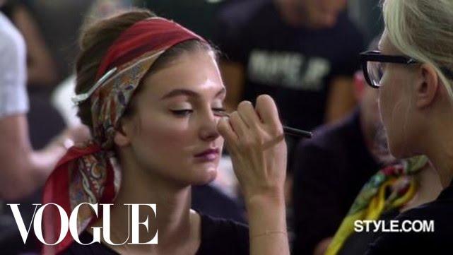Makeup Tutorial with Pat McGrath Backstage At Dolce Gabbana Spring 2013
