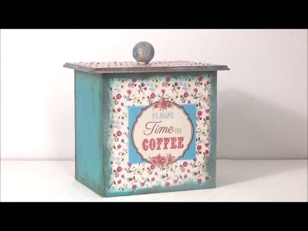 It is always time for coffee napkin decoupage-Ντεκουπάζ χαρτοπετσέτας