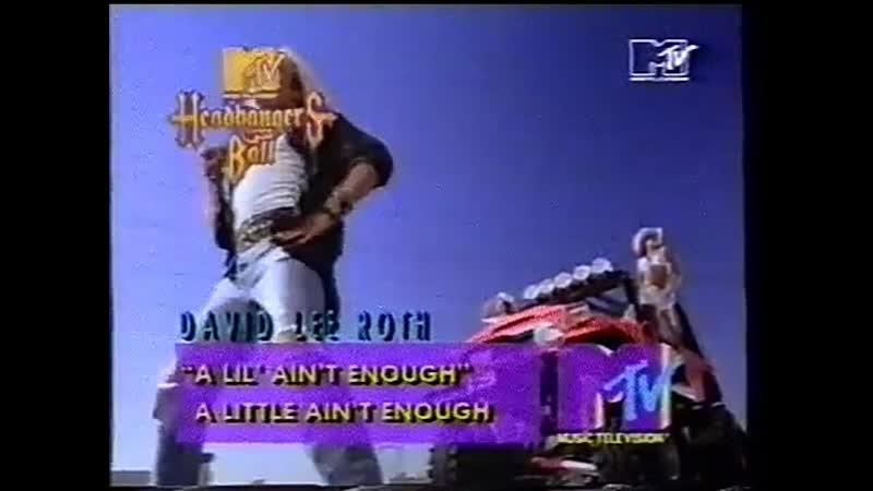 David lee roth - a lil aint enough mtv
