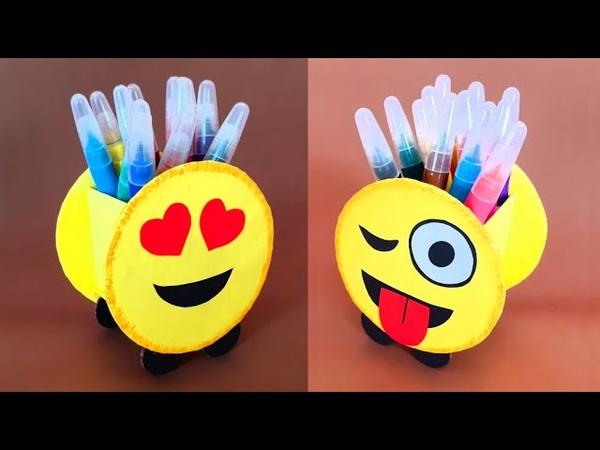 Emoji Masaüstü Kalemlik Nasıl Yapılır How to Make Emoji Pen Stand - Diy Pen Holder