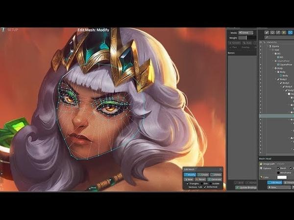 Qiyana Login Screen - League of Legends - Fanart Animation Process Timelapse