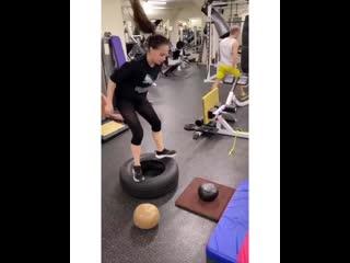 Алина Загитова на тренировке