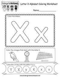 letter x preschool - HD800×1035