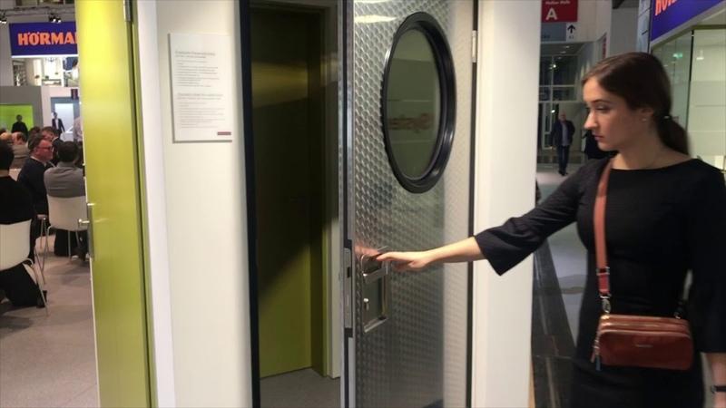 Немецкие двери Hormann из нержавеющей стали