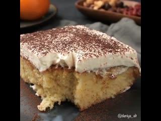 Сегодня у меня на десерт супер вкусныи пирог_торт Три молока (tres leches cake)