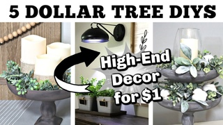 5 Dollar Tree DIYS Using PLASTIC BOWLS?!? | High-End FARMHOUSE DOLLAR TREE DIYS | Krafts by Katelyn
