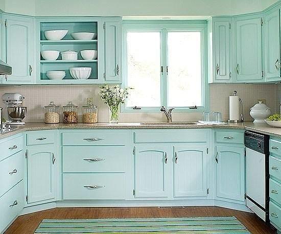 Потрясaющий цвет кухни! Согласны Мне очень нравится(источник: gofazenda)